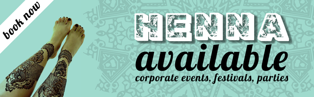 Henna, Corporate events, Festivals and Parties