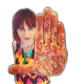 Wendy a.k.a. The Paintertainer, groovy henna hand!